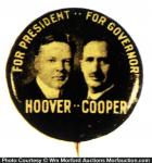 Herbert Hoover Political Pin