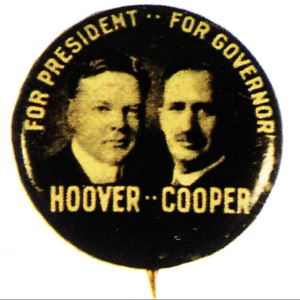 Herbert Hoover Political Pin