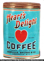 Heart's Delight Coffee Tin
