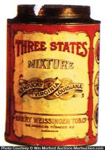 Three States Tobacco Tin