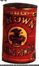 Crown Baking Powder Tin