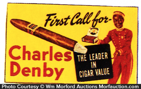 Charles Denby Cigar Sign