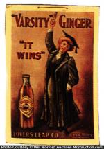 Varsity Ginger Ale Sign