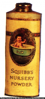 Squibb's Nursery Powder Tin
