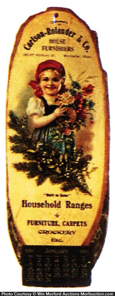 1911 Household Ranges Calendar
