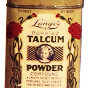 Lange's Talcum Powder Tin