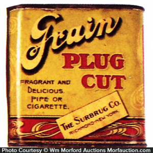 Grain Plug Cut Tobacco Tin