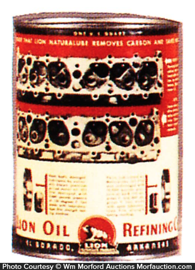 Lion Oil Can