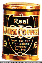 Real Java Coffee Can