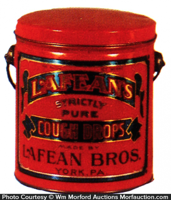 Lafean's Cough Drops Tin