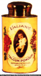 Valiant Talcum Powder Tin