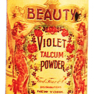 Beauty Violet Talcum Powder Tin