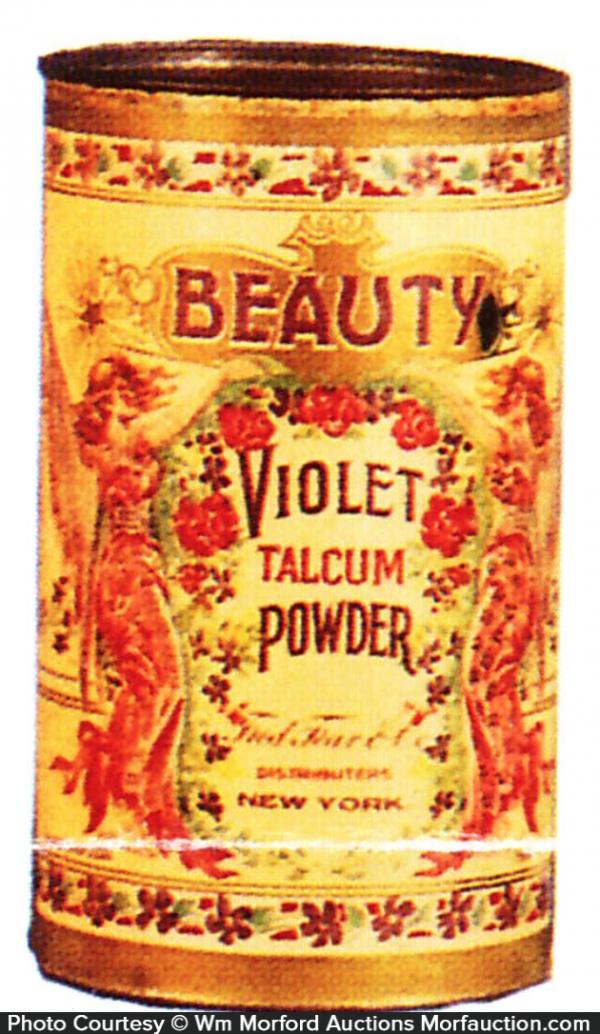 Beauty Violet Talcum Powder Tin