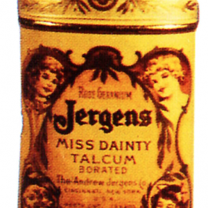 Jergens Miss Dainty Talcum Tin
