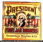 President Fruit Jar Rubbers Box