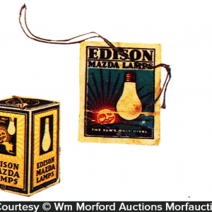 Edison Mazda Lamps Tags