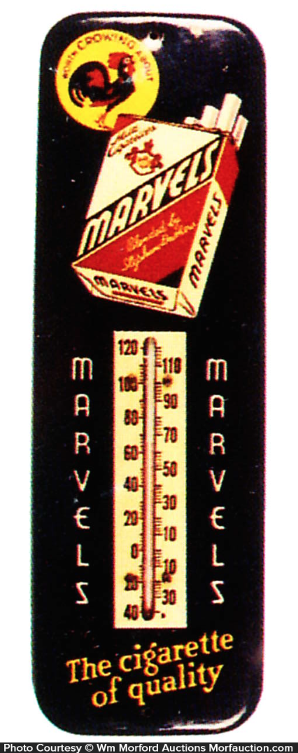 Marvels Cigarettes Thermometer
