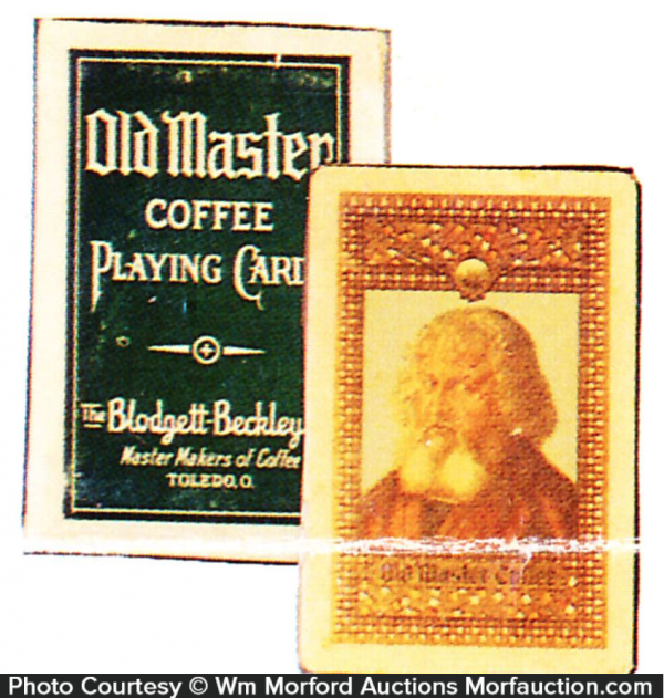 Old Master Coffee Playing Cards