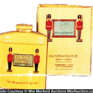 California Perfume Soldier Talc Tin
