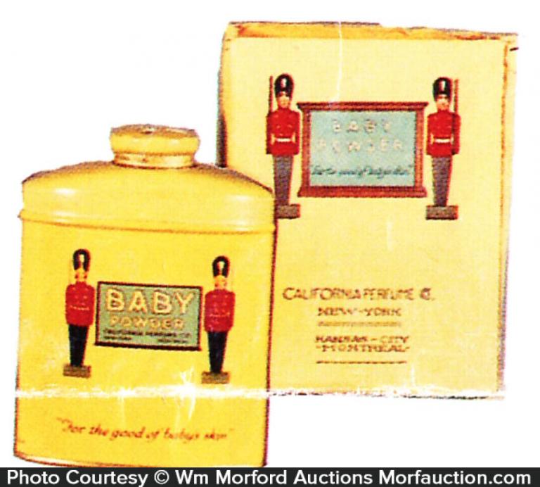 California Perfume Soldier Talc Tin
