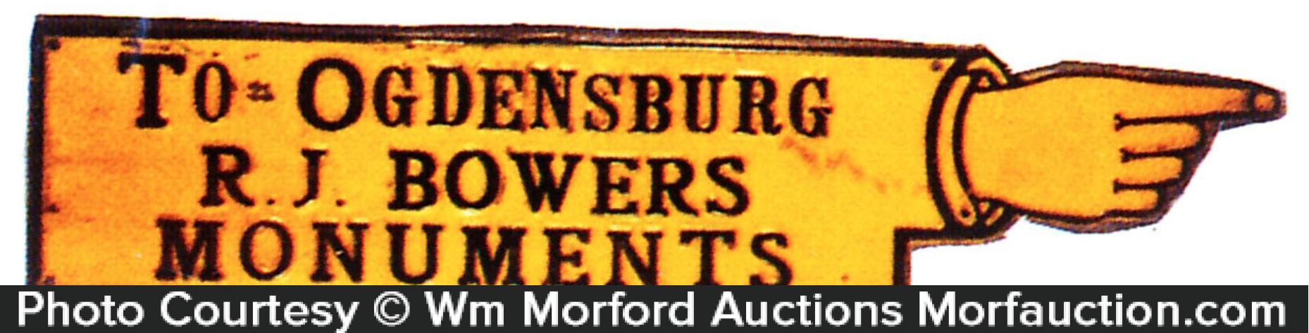 Ogdensburg Monuments Sign