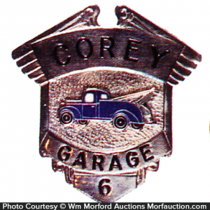 Corey Garage Badge