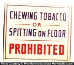 No Tobacco Spitting Sign
