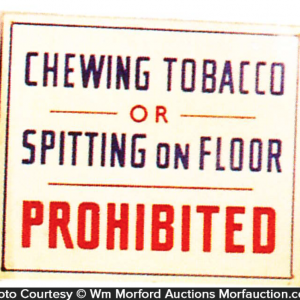 No Tobacco Spitting Sign