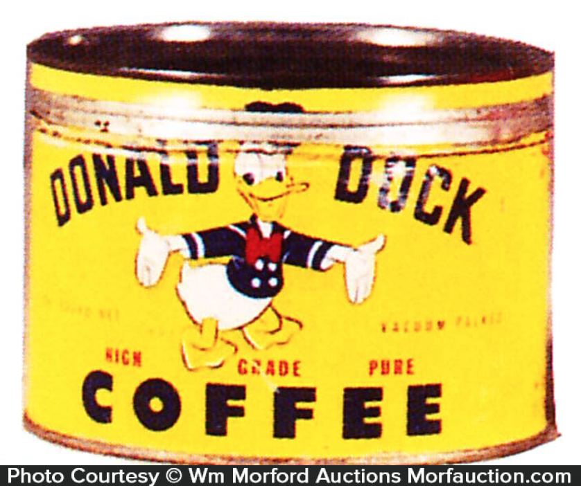 Donald Duck Coffee Can