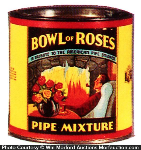 Bowl Of Roses Tobacco Tin