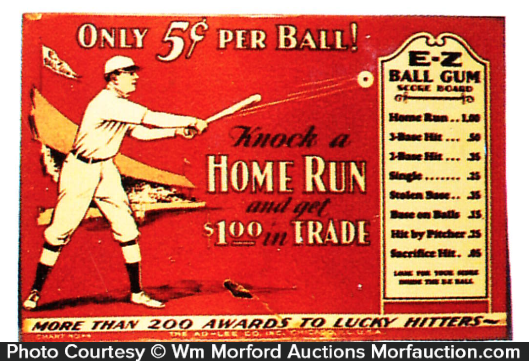 Home Run Gum Sign