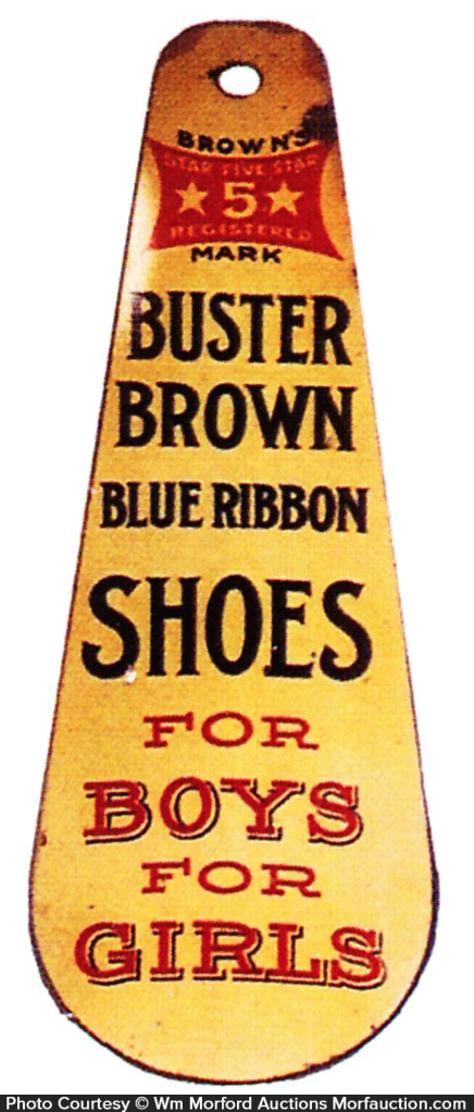 Buster Brown Blue Ribbon Shoe Horn