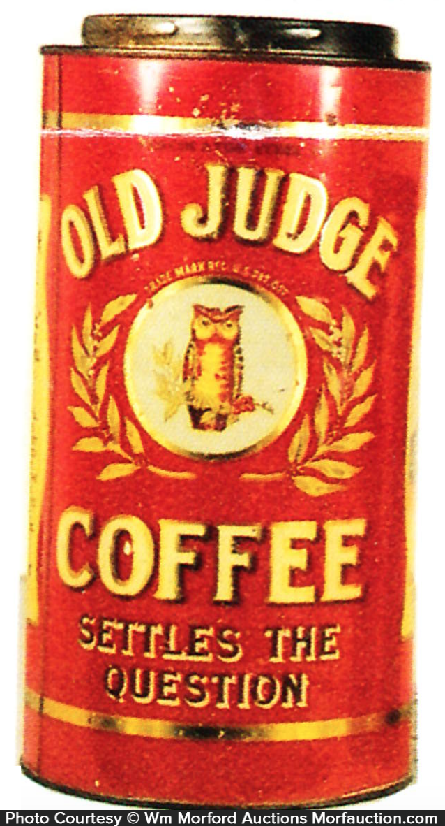 Old Judge Coffee Can
