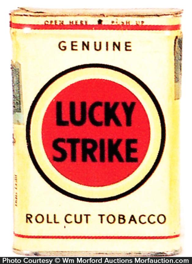 Lucky Strike Tobacco Tin