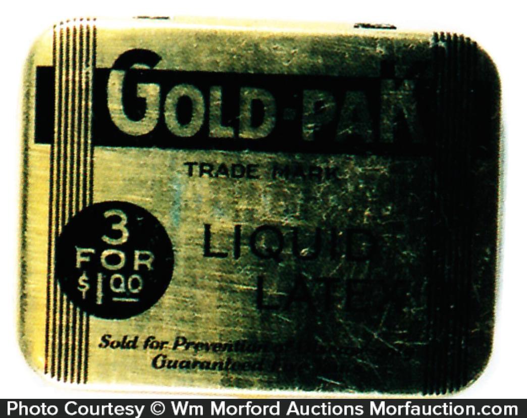 Gold-Pak Condom Tin