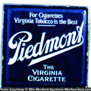 Piedmont Cigarettes Sign
