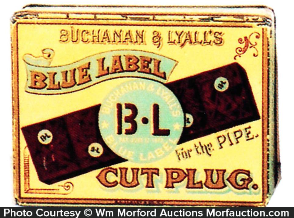 Blue Label Tobacco Tin