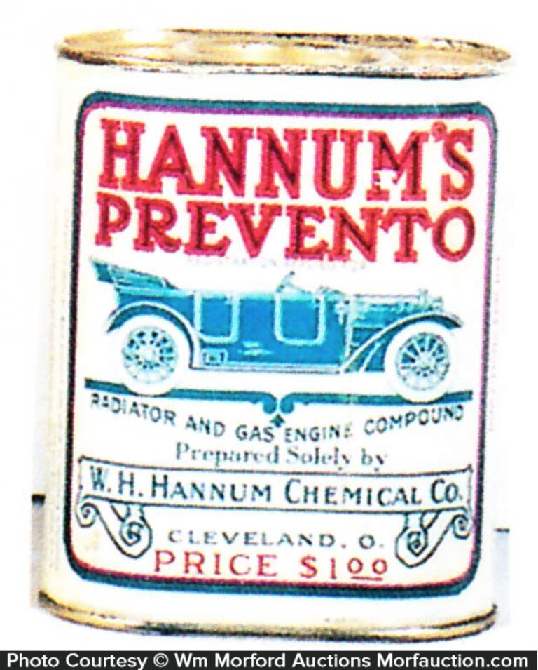 Hannum's Prevento Oil Tin