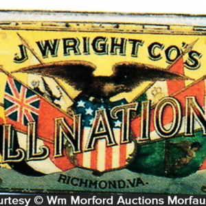 All Nations Tobacco Tin