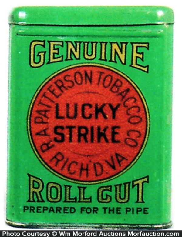 Lucky Strike Roll Cut Tobacco Tin