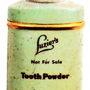 Luzier's Tooth Powder Tin