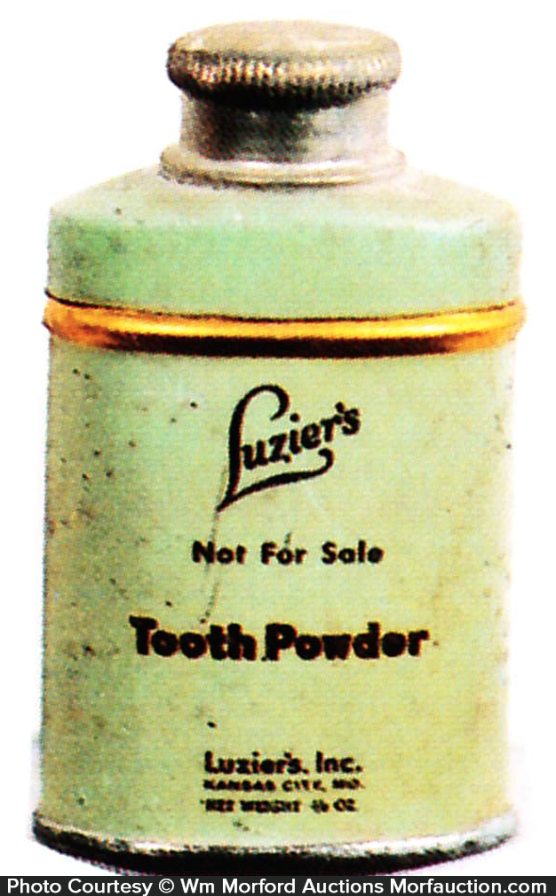 Luzier's Tooth Powder Tin