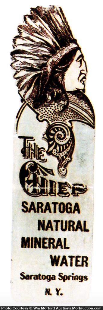 Chief Saratoga Water Bookmark