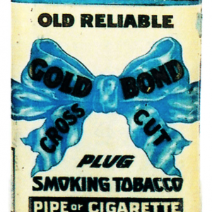 Gold Bond Cross Cut Tobacco Tin