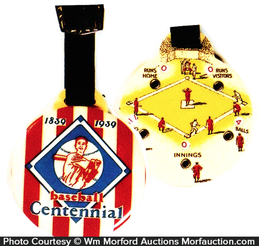 Baseball Centennial Watch Fob