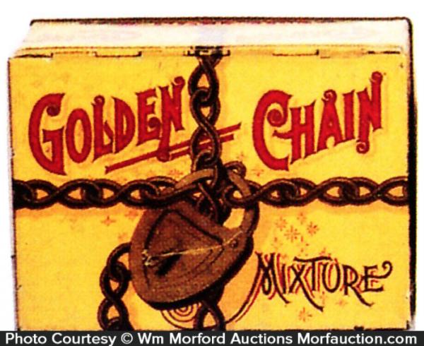 Golden Chain Tobacco Tin