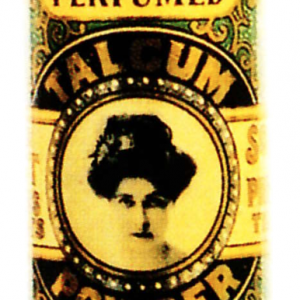 Violet Talcum Powder Tin