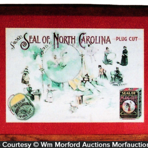 Seal Of North Carolina Tobacco Sign