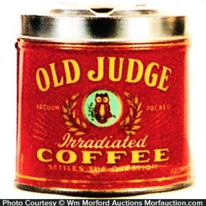 Old Judge Coffee Ash Tray