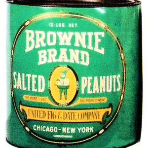 Brownie Peanuts Tin